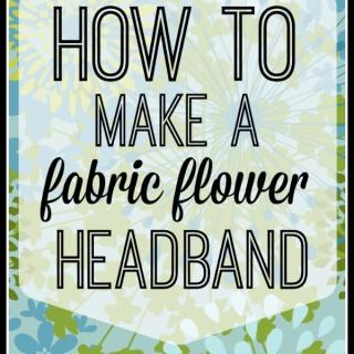 How to make a fabric flower headband at thebensonstreet.com