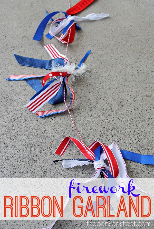 Firework Ribbon Garland at thebensonstreet.com