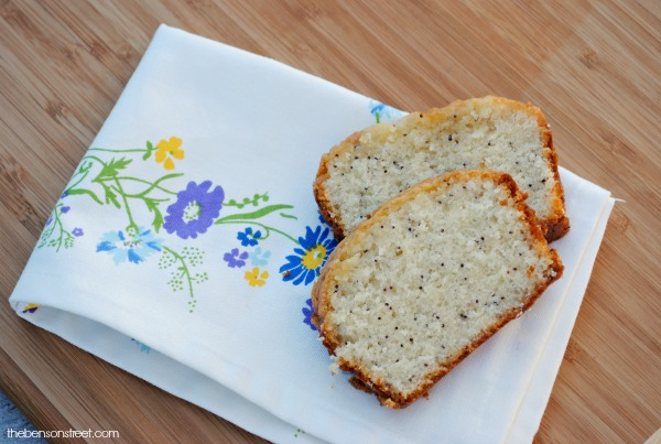 Citrus Glazed Poppy Seed Bread Recipe at thebensonstreet.com