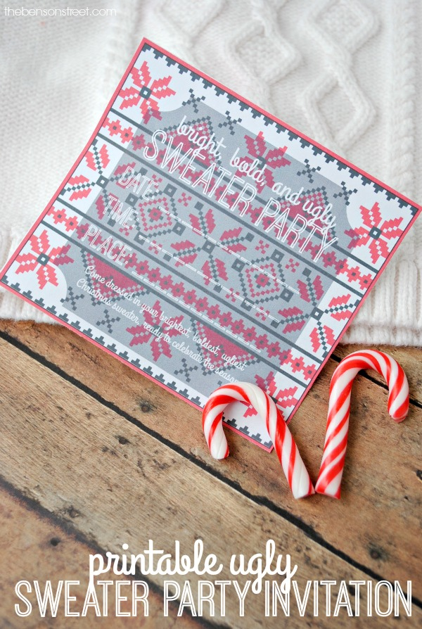 Printable Ugly Sweater Party Invitation - Amy Latta Creations
