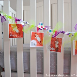 Birthday Banner with Ribbon at thebensonstreet.com